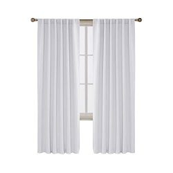 Deconovo Solid Back Tab Curtains Blackout Curtains Thermal Insulated Drapes and Curtains Room Da ...
