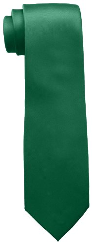 Tommy Hilfiger Men's Skinny Solid Tie, Green, One Size