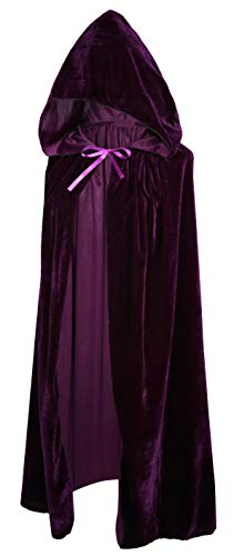 Crizcape Kids Costumes Capes Cloak with Hood for Halloween Party Ages 2 to 18 (Purple, M/80CM)