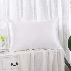 Salmoph Secret Luxury 19 Momme 100% Mulberry Silk Pillowcase for Hair and Skin, 600 Thread Count ...