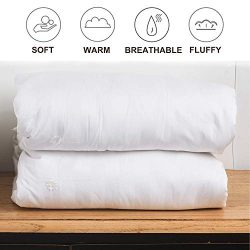 VanRolldex White Silk Comforter with Cotton – Pure Long Grade Natural Silk Filled Silk Qui ...