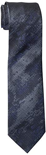 John Varvatos Star USA Men's Fillmore Melange TIE, Blue Steel, One Size