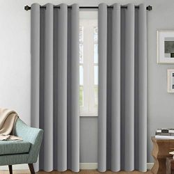 H.VERSAILTEX Three Pass Microfiber Blackout Thermal Insulated Grommet Panels Window Curtains/Dra ...