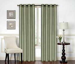 All American Collection New Elegant Modern Contemporary Solid Faux Silk Window Treatment Curtain ...