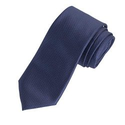 Amazon Essentials Men's Classic Solid Necktie, Navy, One Size