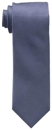 Calvin Klein Men's Steel Micro Solid B Tie, Navy, One Size
