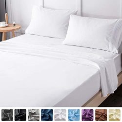 LIANLAM King Bed Sheets Set – Super Soft Brushed Microfiber 1800 Thread Count – Brea ...