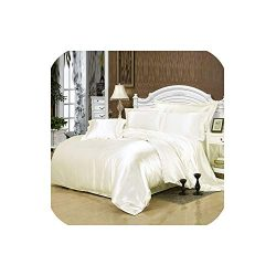 LOVE-JING Silk Bedding Set Home Textile King Size Bed Set Bed Clothes Duvet Cover Flat Sheet Pil ...