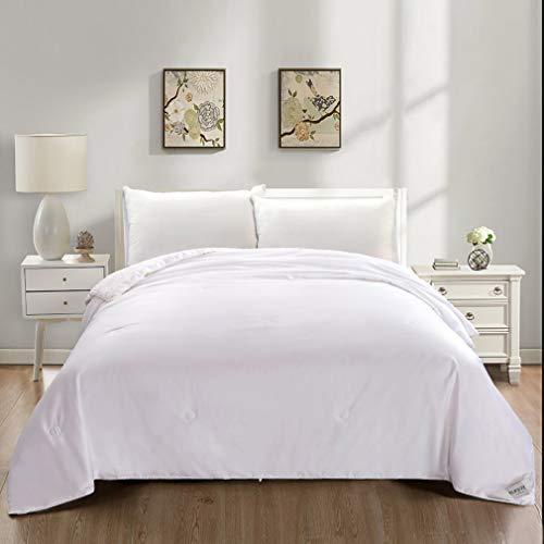 SLKJOY Silk Comforter/Quilt/Duvet, 100% Natural Long Strand Mulberry Silk Filled with Cotton Cov ...