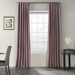 HPD Half Price Drapes PDCH-KBS11-120 Vintage Textured Faux Dupioni Silk Curtain (1 Panel), 50 X  ...