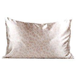 Kitsch 100% Satin Pillowcase, Vegan Silk Pillowcase, Queen (Leopard)