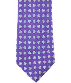 Tommy Hilfiger Men's Timing Sprocket Silk Tie Purple Neckties