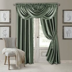 Elrene Home Fashions Versailles Faux Silk Room Darkening & Energy Efficient Lined Rod Pocket ...