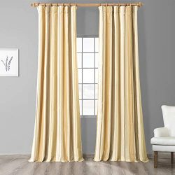 HPD Half Price Drapes PTS-SLK940-84 Designer Striped Faux Silk Curtain (1 Panel), 50 X 84, Norfo ...