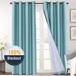 H.VERSAILTEX Full Blackout Curtains for Bedroom 108 Inches Length Thermal Insulated Noise Reduci ...