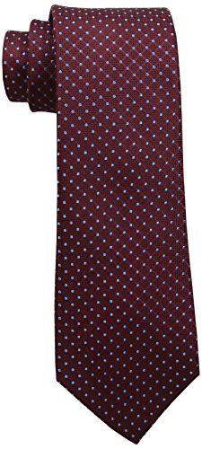 Tommy Hilfiger Men's Connected Dot Tie, Burgundy, One Size