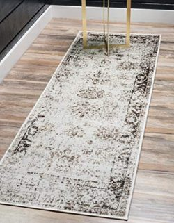 Unique Loom Sofia Traditional Area Rug, 2′ 0 x 13′ 0, Beige