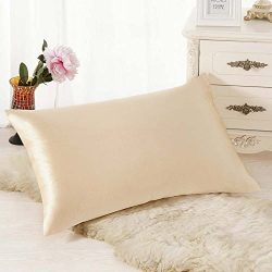 NLGToy Rectangle Cushion Cover Silk Throw Pillow Case Pillowcase,Soft Soild Decorative Square Th ...