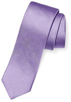 BUTTONED DOWN Men's 100% Silk Tie, Light Purple, Regular