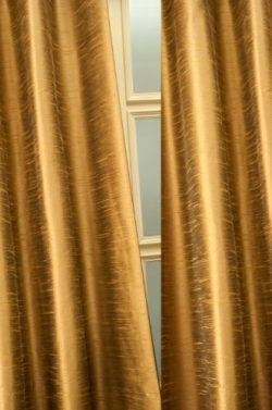 Metallic tone raw faux silk curtain/panel/drape (Antique Gold, 52″W X120″L)