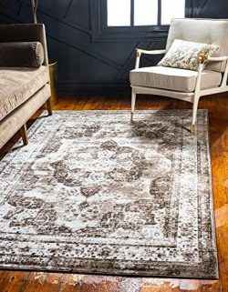 Unique Loom 3134099 Sofia Collection Traditional Vintage Beige Area Rug, 8′ 0 x 10′  ...