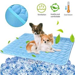 Pet Dog Cooling Mat Pad for Dogs Cats Ice Silk Mat Cooling Blanket Cushion for Kennel/Sofa/Bed/F ...