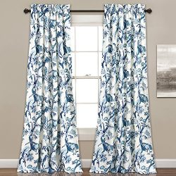 Lush Decor Curtains Dolores Darkening Window Panel Set for Living, Dining Room, Bedroom (Pair),  ...