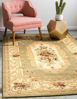 Unique Loom Versailles Collection Traditional Classic Green Area Rug (2′ 2 x 3′ 0)