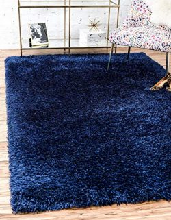 Unique Loom Marilyn Monroe Shag Collection Glamorous Plush Blue Jeane Area Rug (9′ 0 x 12& ...