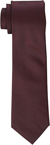 Calvin Klein Men's Silver Spun Solid Tie, Wine, Regular