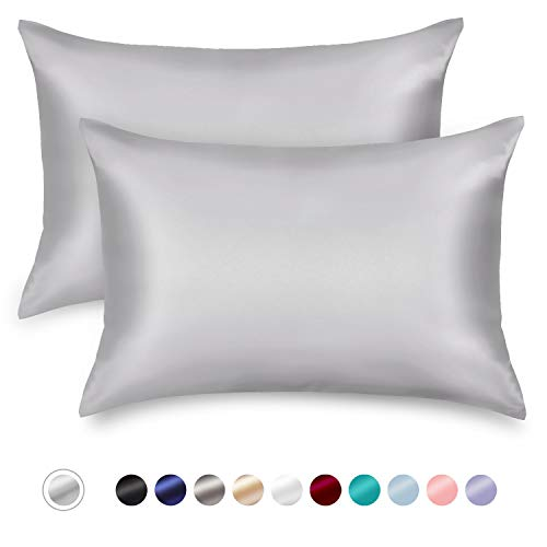 ZAMAT Silky Satin Pillowcases Set of 2, Luxury Soft Pillow Case for Hair and Skin, Wrinkle, Fade ...