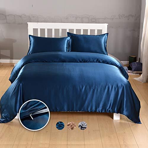 100% Mulberry Silk Duvet/Comforter/Quilt Cover, Bedding Duvet Cover, Seamless Pure Silk 20 Momme ...