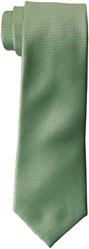 Perry Ellis Men's Oxford Solid Tie, Sage, One Size