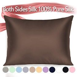 Jaciu 100% Silk Pillowcase for Hair and Skin, Both Side Mulberry Silk Pillowcase 21 Momme 600TC  ...