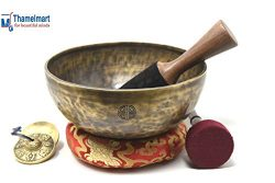 10 inches Full moon Tibetan singing bowl-Himalayan singing bowl-healing,Yoga Come with including ...