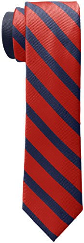 Tommy Hilfiger Men's Slide Stripe Tie, Red, One Size