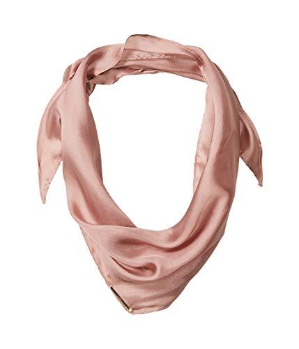 Vince Camuto Women's Woven Silk Neckerchief, Blush, One Size