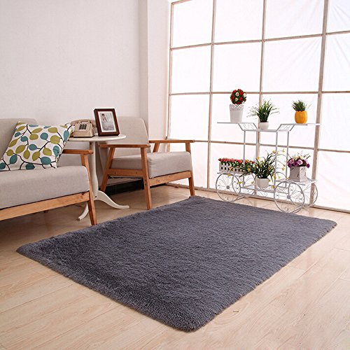 Kitchen Gadgets,Fluffy Rugs Anti-Skid Shaggy Area Rug Dining Room Home Bedroom Carpet Floor Mat  ...