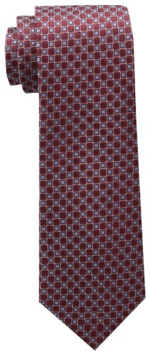 Tommy Hilfiger Men's Core Neat I Tie, Burgundy, One Size