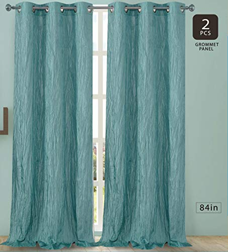Dainty Home Jackson Silk-Like Crushed Shimmering Taffeta Room Darkening Grommet Curtain Panel Pa ...