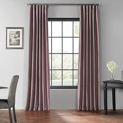 HPD Half Price Drapes PDCH-KBS11BO-84 Blackout Vintage Textured Faux Dupioni Curtain (1 Panel),  ...