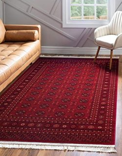 Unique Loom Tekke Collection Tribal Traditional Torkaman Red Area Rug (9′ 0 x 12′ 0)